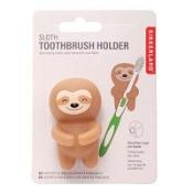 Kikkerland Sloth Toothbrush Holder Brown