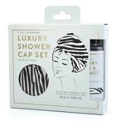 Luxury Shower Gel & Cap Gift Set Zebra