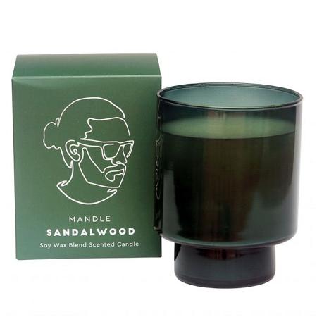 Mandle Scented Candle Jar Sandalwood