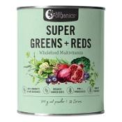 Nutra Organics Super Greens + Reds Wholefood Multivitamin Powder 300g