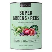 Nutra Organics Super Greens + Reds Wholefood Multivitamin Powder 600g
