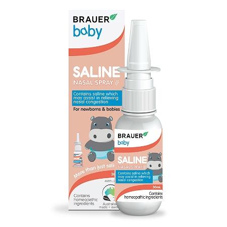 Brauer Baby Saline Nasal Spray 30ml (Expiry: November 2021, no refunds or exchanges)
