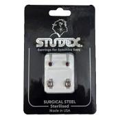 Studex Regular Birthstone January Silver Stud Earring 1 Pair