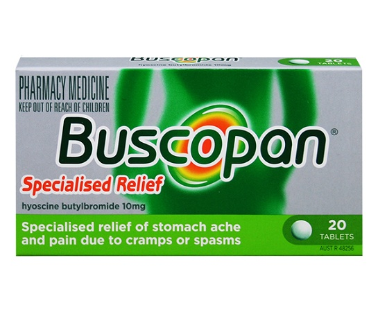Buscopan 10mg Stomach Pain Relief 20 Tablets
