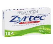 Zyrtec Allergy & Hayfever 10 Mini Tablets