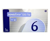 Novofine Pen Needle 32G x 6mm 100 Needles
