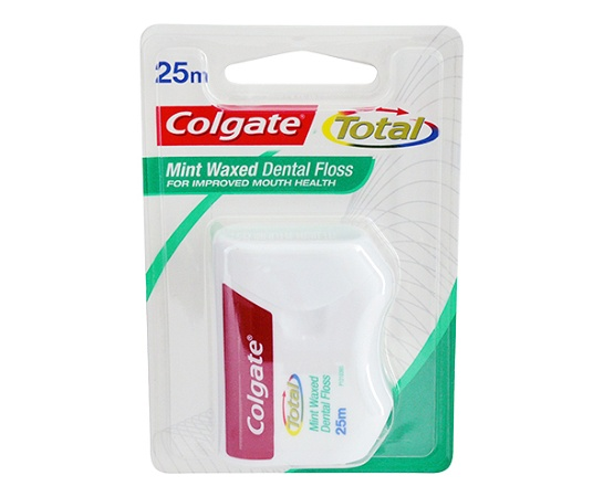 Colgate Dental Floss Total Mint Waxed 25m