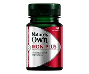 Natures Own Iron Plus 50 Tablets