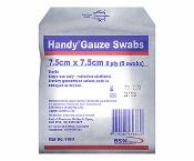 Handy Gauze Swabs Sterile 7.5cm x 7.5cm 5 Pack