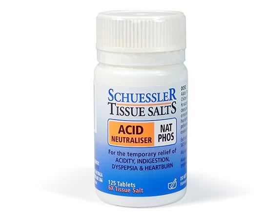 Schuessler Tissue Salts Acid Neutraliser Nat Phos 125 Tablets