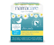 Natracare Ultra Pads Super Wings 12 Pack