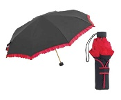 Shelta 3889 Contrast Colour Frill Mini Maxi Black/Red