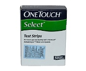 Onetouch Select Glucose Test Strips 50 Pack