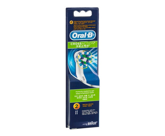 Oral B CrossAction Replacement Toothbrush Heads 2 Pack