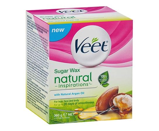 Veet Natural Sugar Wax Argan Oil 360g