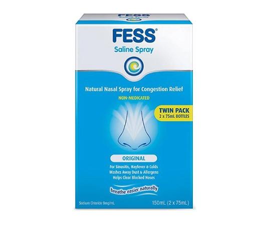 Fess Nasal Saline Spray 2x75ml
