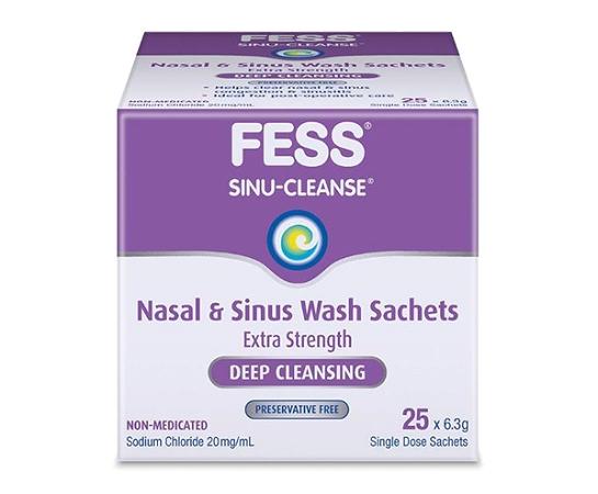 Fess Sinu-Cleanse Nasal & Sinus Wash 6.3g x 25 Sachets