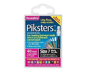 Piksters Size 7 Black 40 Pack