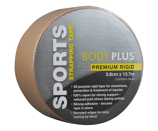 Body Plus Premium Rigid Sports Tape 3.8cm x 13.7m