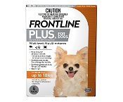 Frontline Plus for Small Dogs up to 10kg Orange 6 Doses
